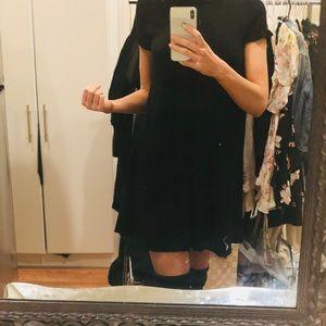 Zara black short sleeve dress